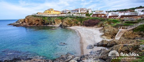 Spain - Comarques gironines -  El Port de la Selva - Beach Vaquers