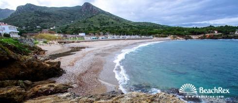 Spain - Comarques gironines -  El Port de la Selva - Beach la Vall