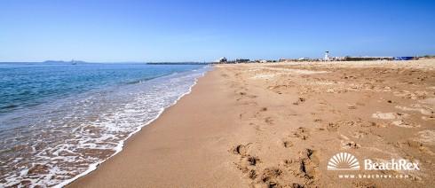 Spanien - Comarques gironines -  Empuriabrava - Strand de la Rubina