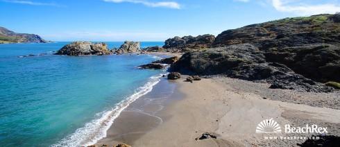 Spain - Comarques gironines -  Colera - Beach Borro d'Enfora