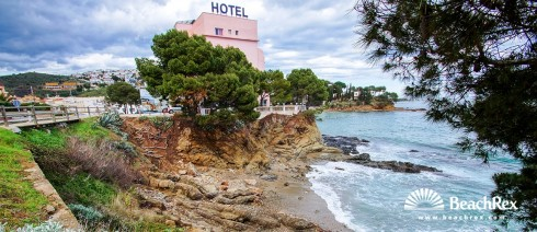 Spain - Comarques gironines -  Llanca - Beach sota del Parador