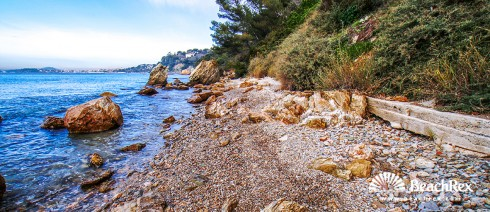 France - Var -  Toulon - Beach du Fort Cap Brun