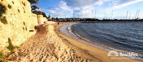 France - AlpesMaritimes -  Antibes - Beach de la Galice