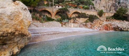 Italy - Liguria -  Grimaldi - Beach Balzi Rossi