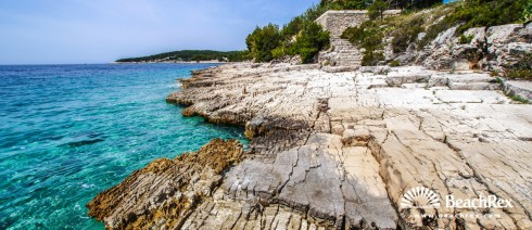 Croatia - Dalmatia  Split - Island Brač -  Milna - Beach Koromaslinova
