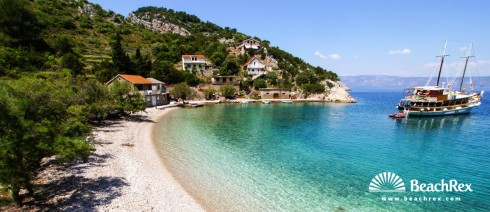 Croatia - Dalmatia  Split - Island Hvar -  Jelsa - Beach Mala Stiniva