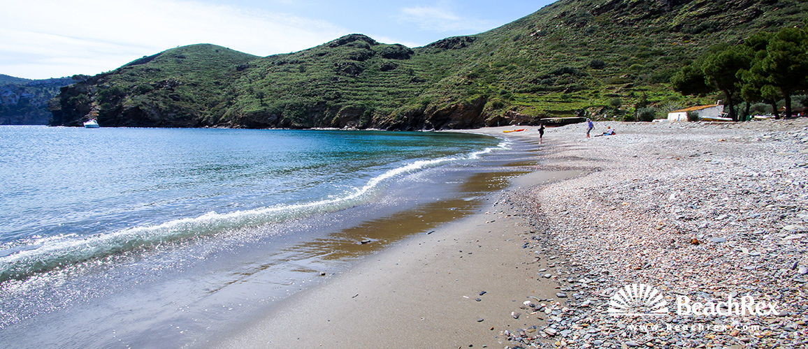 Spain - Comarques gironines -  Roses - Beach Joncols