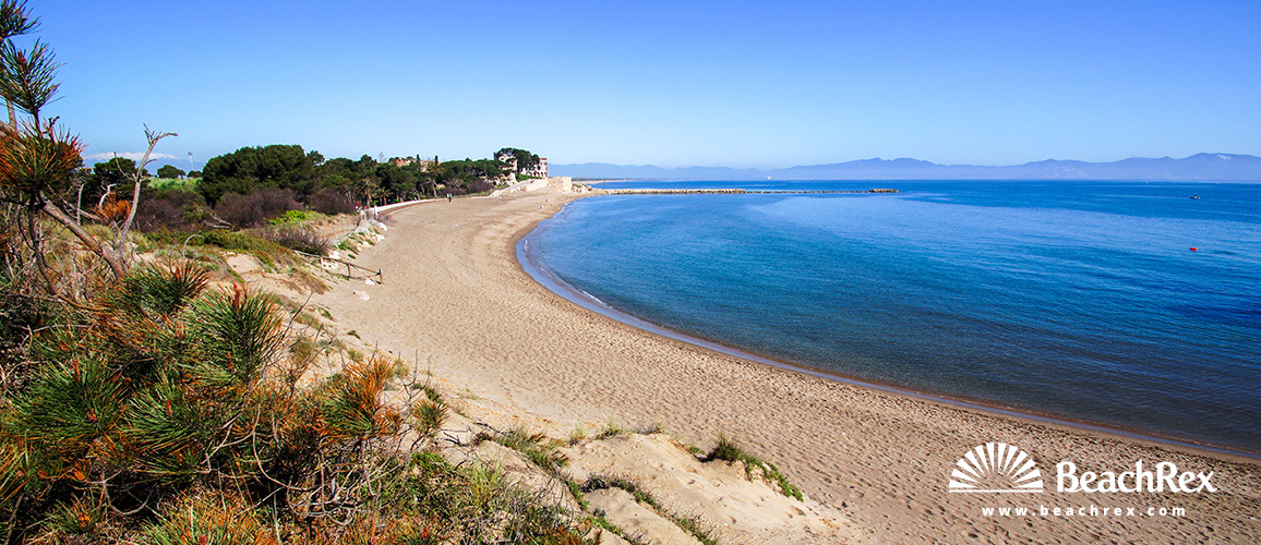 Spain - Comarques gironines -  L'Escala - Beach Sant Martí d'Empúries