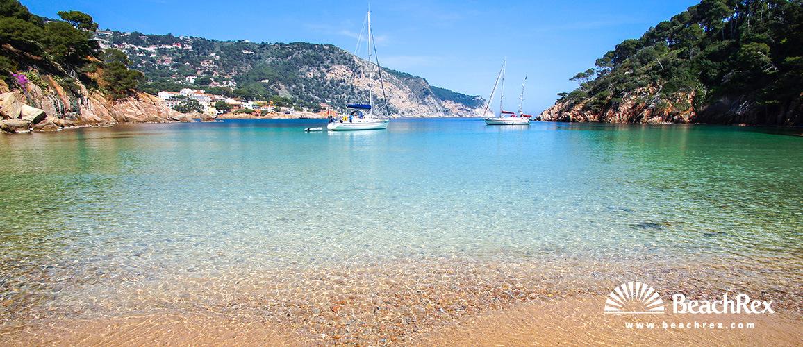 Spain - Comarques gironines -  Begur - Beach  Aiguablava