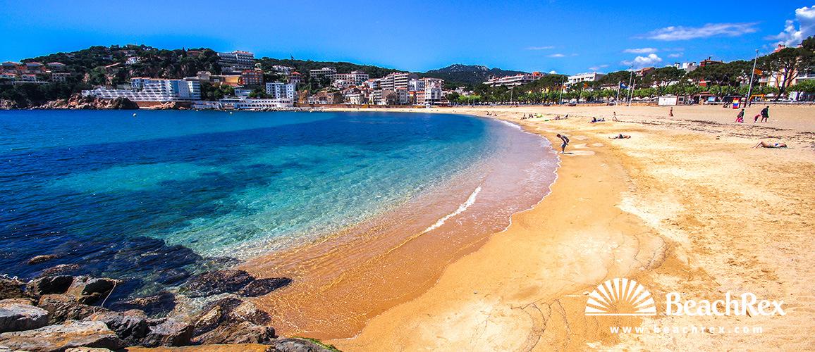 Spain - Comarques gironines -  Sant Feliu de Guíxols - Beach Sant Feliu