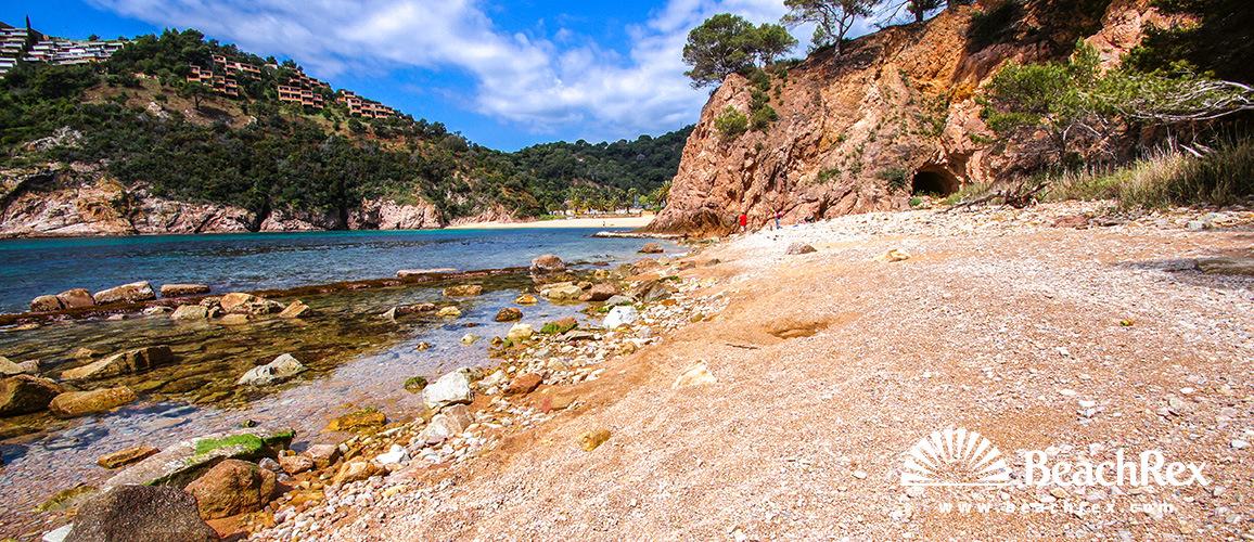 Spain - Comarques gironines -  Tossa de Mar - Beach Giveroleta
