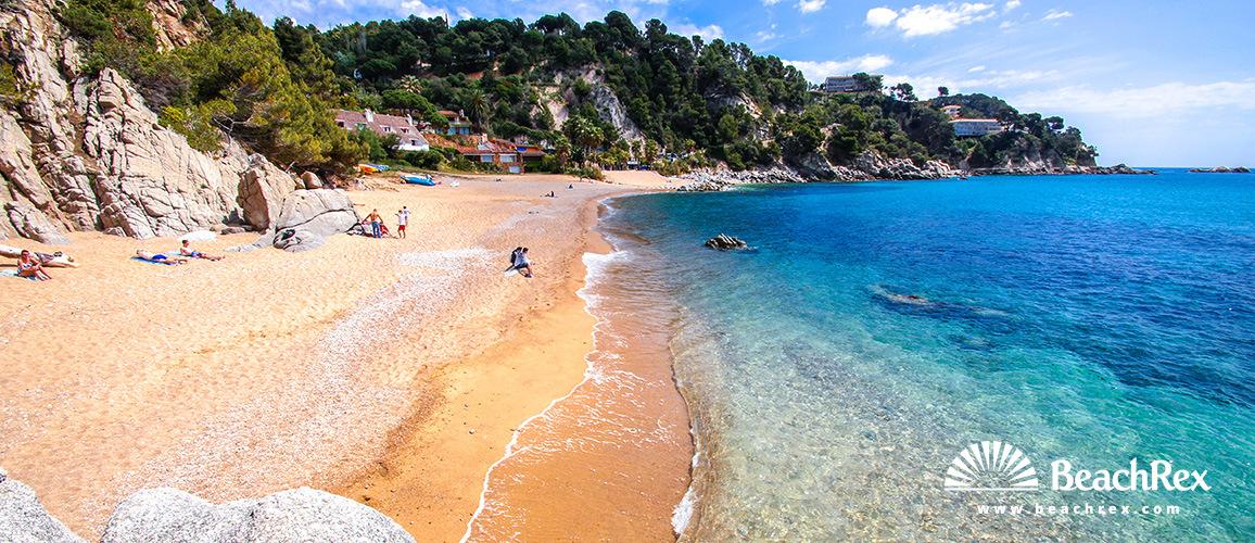 Spain - Comarques gironines -  Tossa de Mar - Beach Llorel
