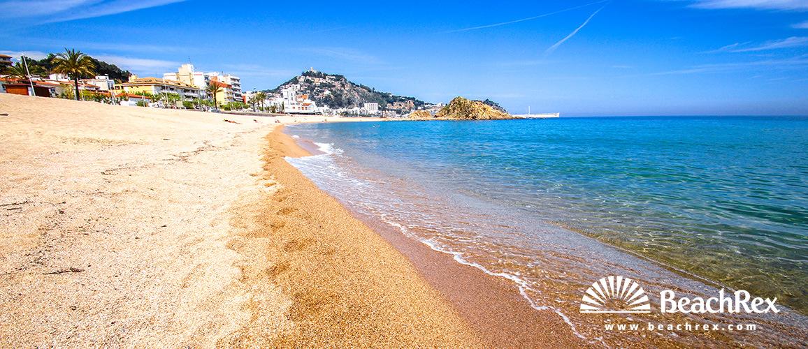 beach in blanes spain