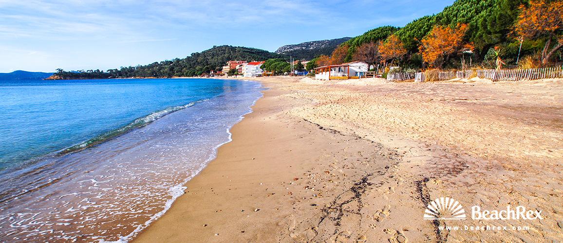 Beach Le Cavalire Le Lavandou Var France Beachrexcom