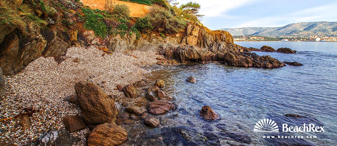 France - Var -  Bormes-les-Mimosas - Beach de la Ris