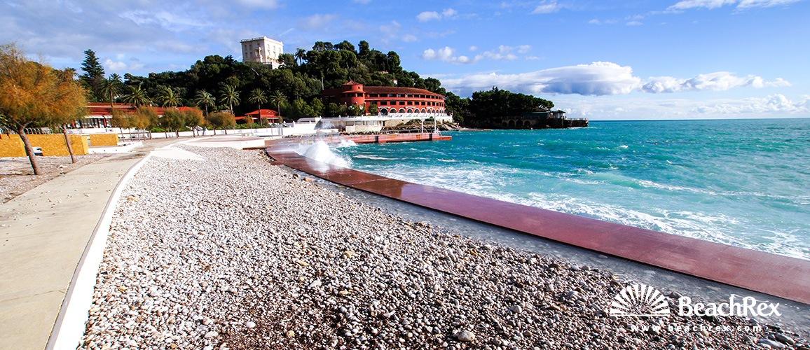 France - AlpesMaritimes -  Roquebrune-Cap-Martin - Beach Monte Carlo