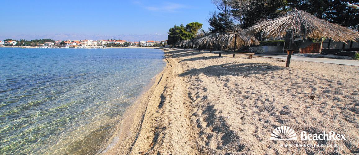 Croatia - Dalmatia  Zadar -  Vrsi - Beach Školjić