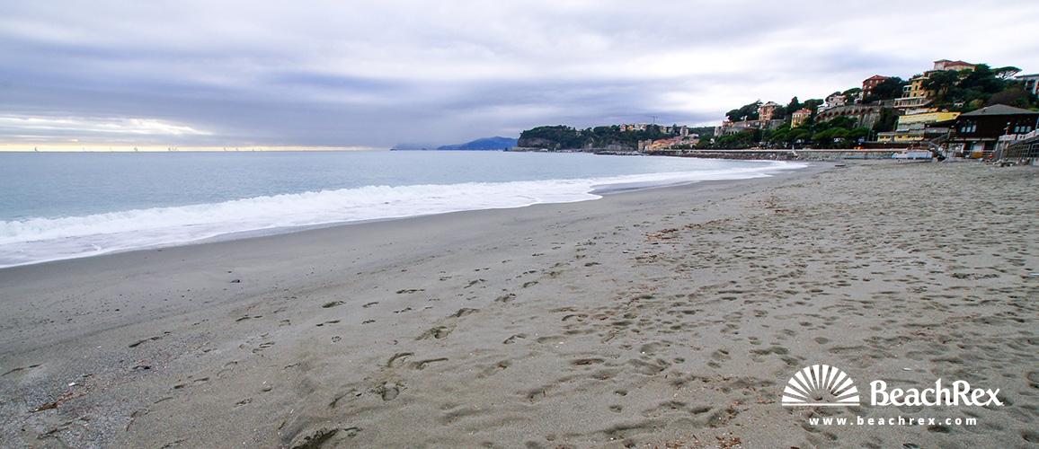 Italy - Liguria -  Celle Ligure - Beach Piani