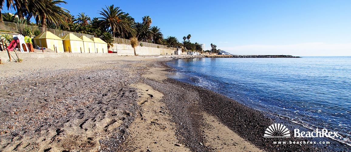 Italy - Liguria -  Sanremo - Beach Italo Calvino