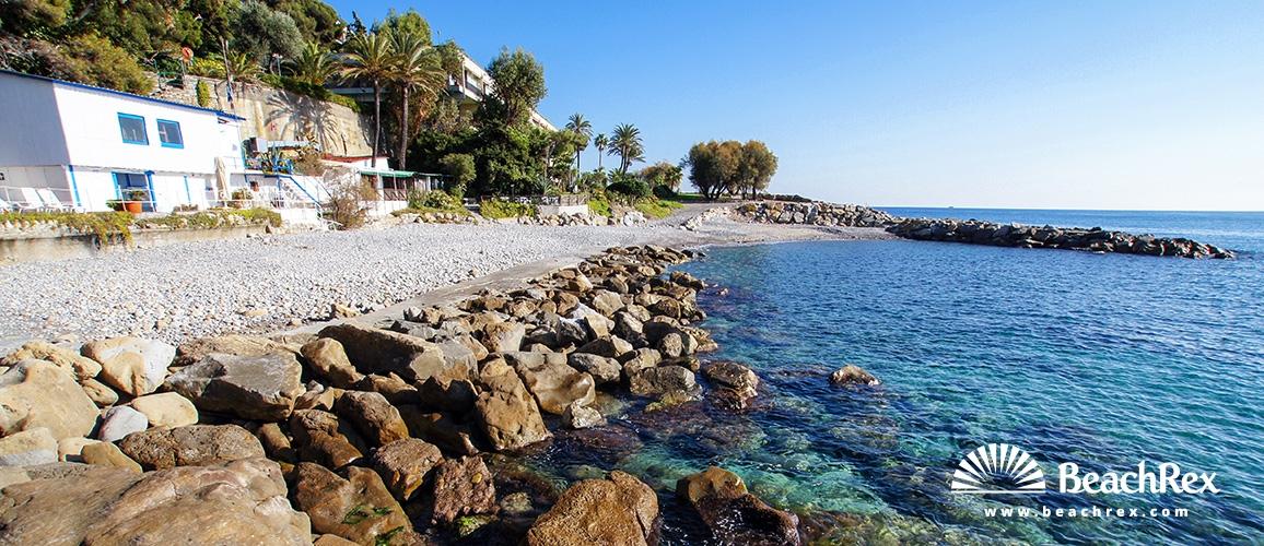 Italy - Liguria -  Bordighera - Beach Portico