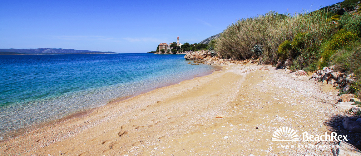 Croatia - Dalmatia  Split - Island Brač -  Bol - Beach Grabov rat