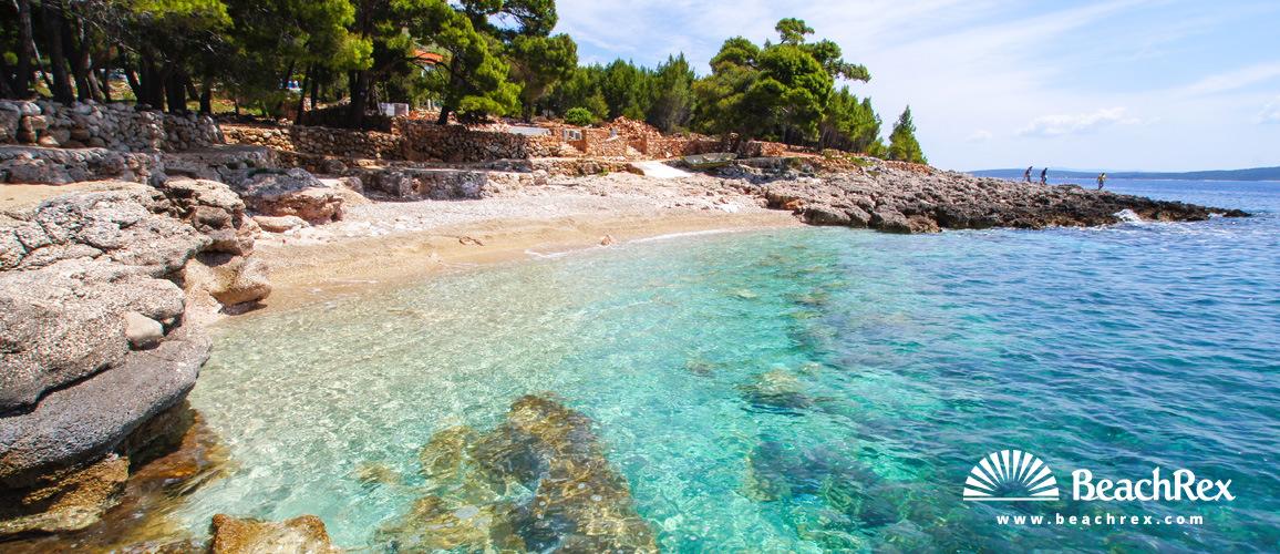 Croatia - Dalmatia  Split - Island Hvar -  Ivan Dolac - Beach Feronija