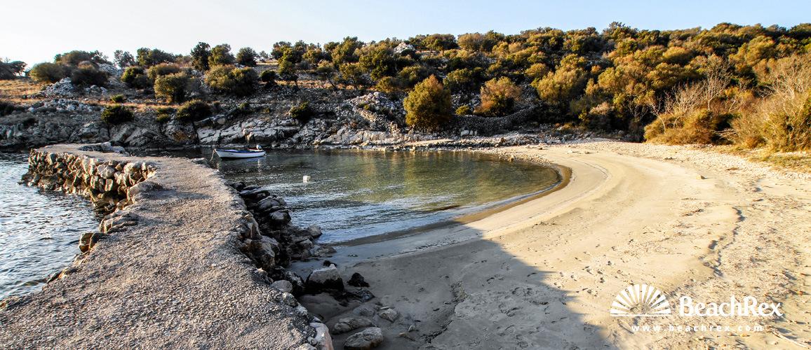 Croatia - Lika - Island Pag -  Novalja - Beach Borovici
