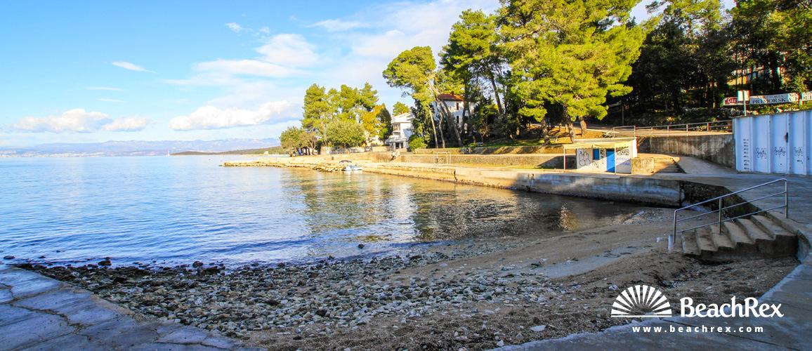 Hrvatska - Kvarner - Otok Krk -  Malinska - Plaža Malin