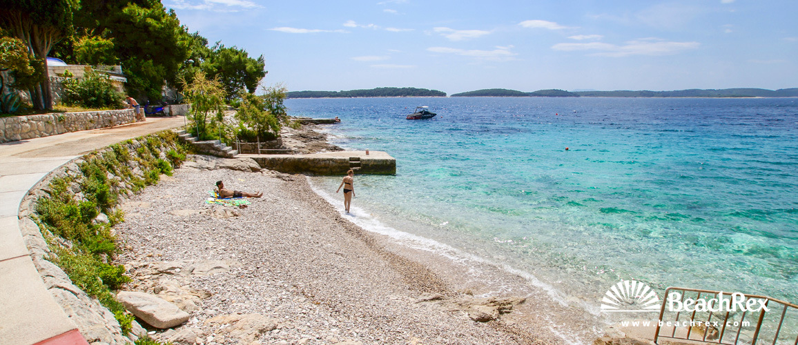 Croatia - Dalmatia  Split - Island Hvar -  Hvar - Beach Hula Hula