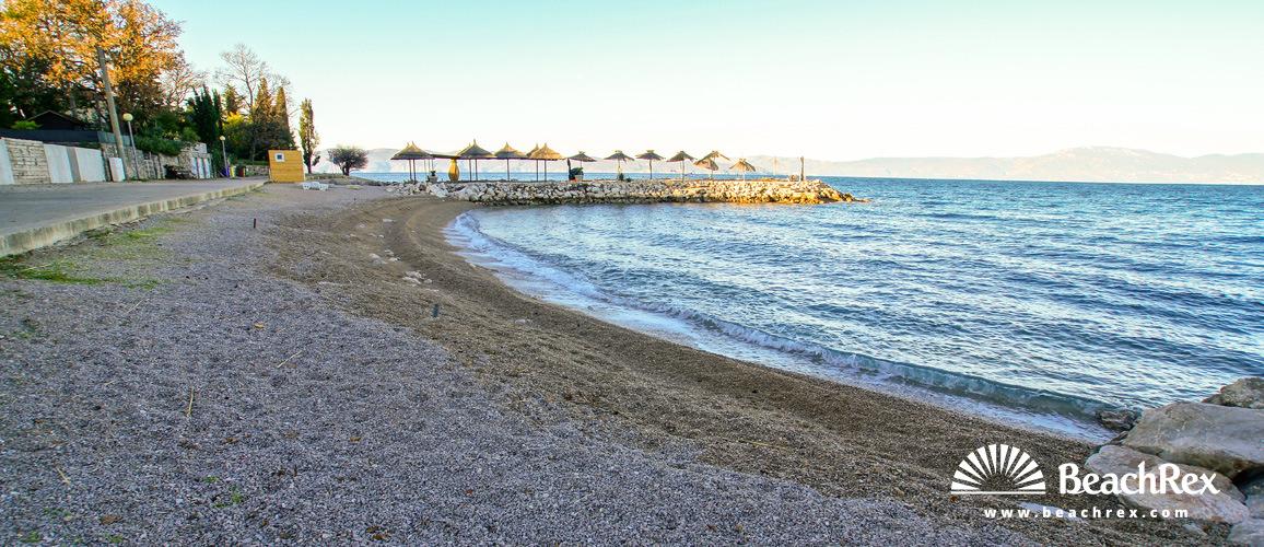 Hrvaška - Kvarner - Otok Krk -  Njivice - Plaža Miramare