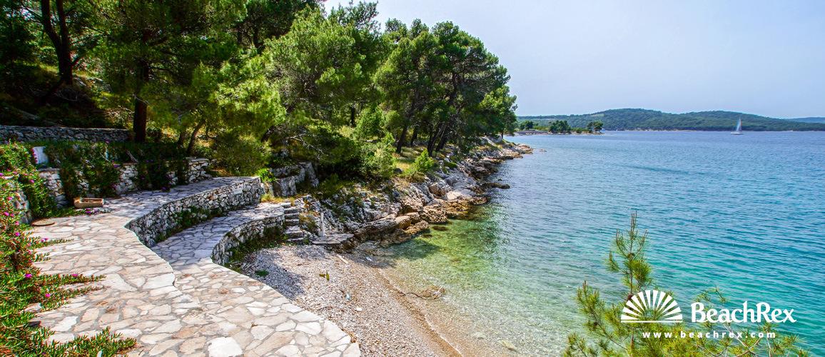 Croatia - Dalmatia  Split - Island Brač -  Milna - Beach Hana