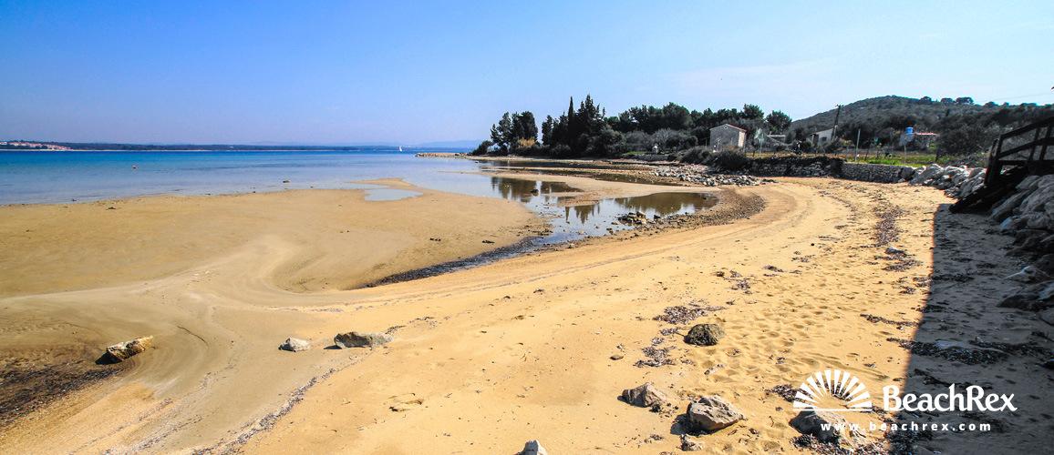 Hrvatska - Dalmacija  Zadar - Otok Pašman -  Tkon - Plaža Soline