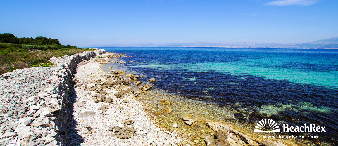 Croatia - Dalmatia  Split - Island Brač -  Mirca - Beach Mečarica