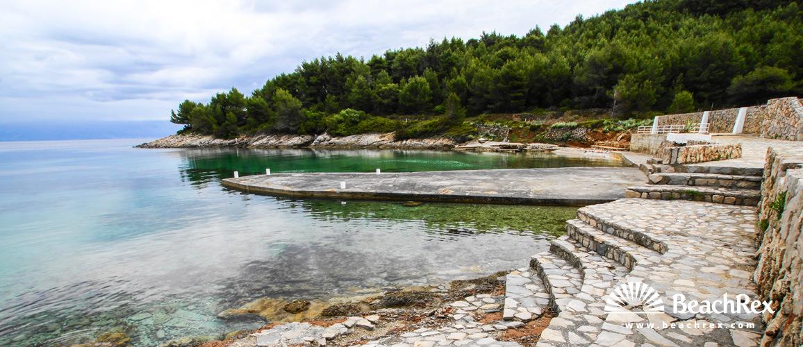 Hrvatska - Dalmacija  Split - Otok Hvar -  Jelsa - Plaža Zenčišće