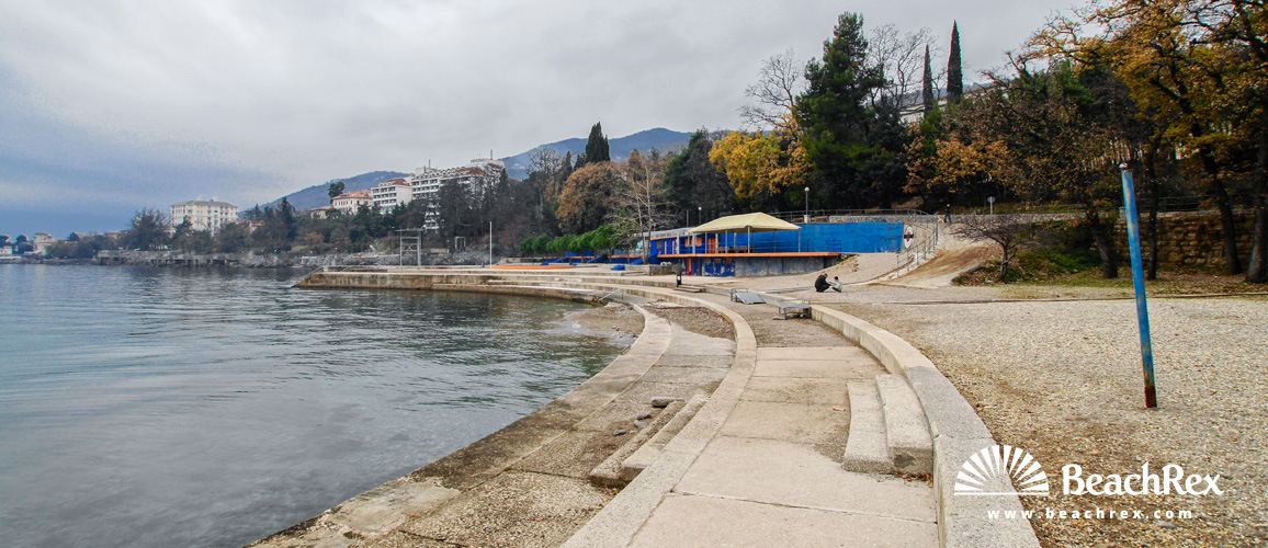 Croatia - Kvarner -  Lovran - Beach Kvarner