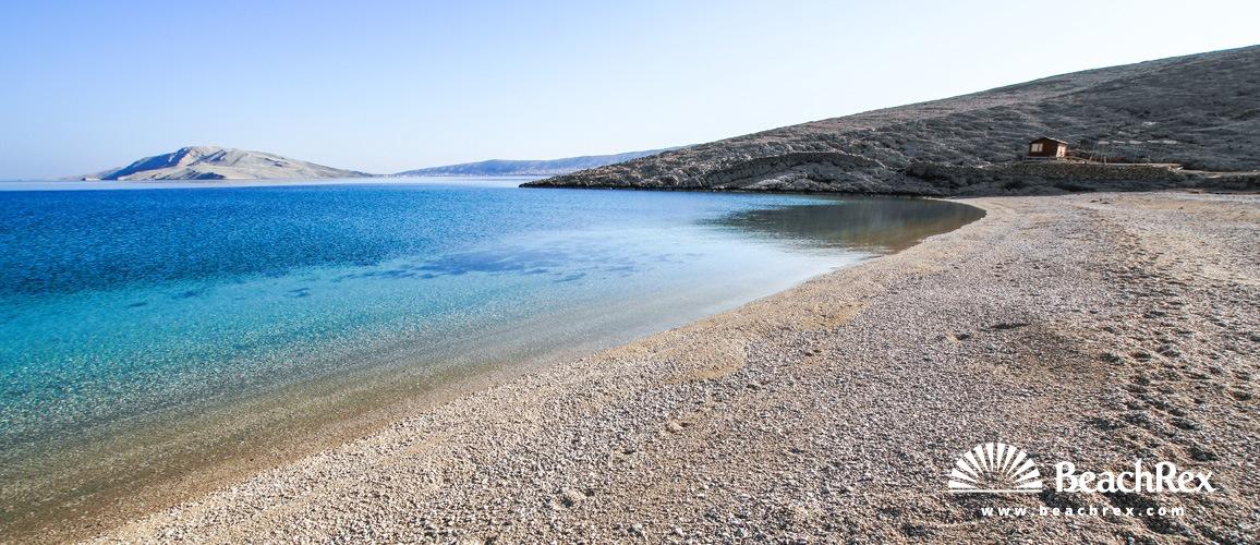 Hrvaška - Lika - Otok Pag -  Metajna - Plaža Ručica