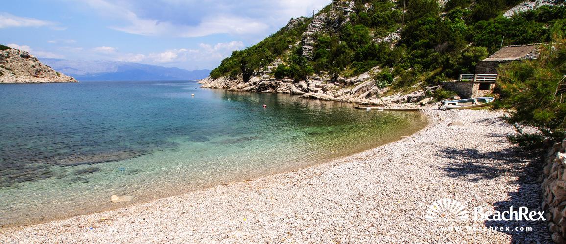 Croatia - Dalmatia  Split - Island Hvar -  Zastražišće - Beach Kruševa