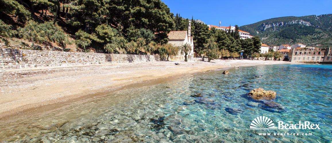 Hrvatska - Dalmacija  Split - Otok Vis -  Komiža - Plaža Gusarica