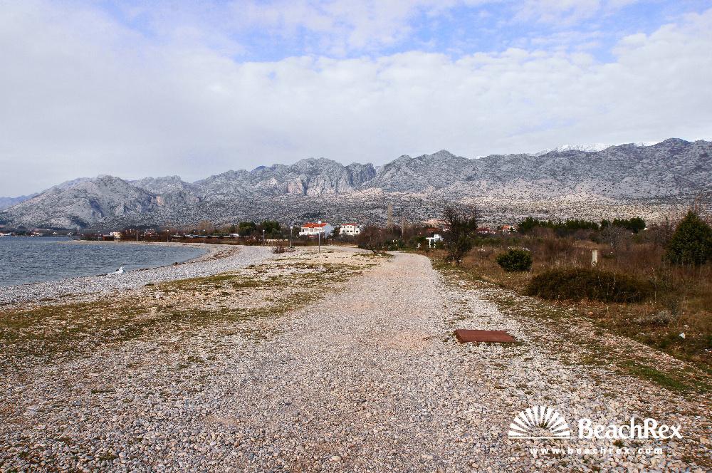 Croatia - Dalmatia  Zadar -  Seline - Beach Pisak