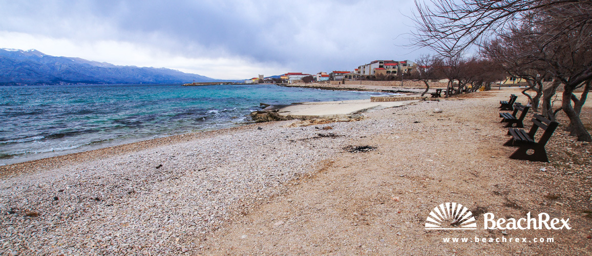 Croatia - Dalmatia  Zadar -  Ražanac - Beach sunčani Ražanac