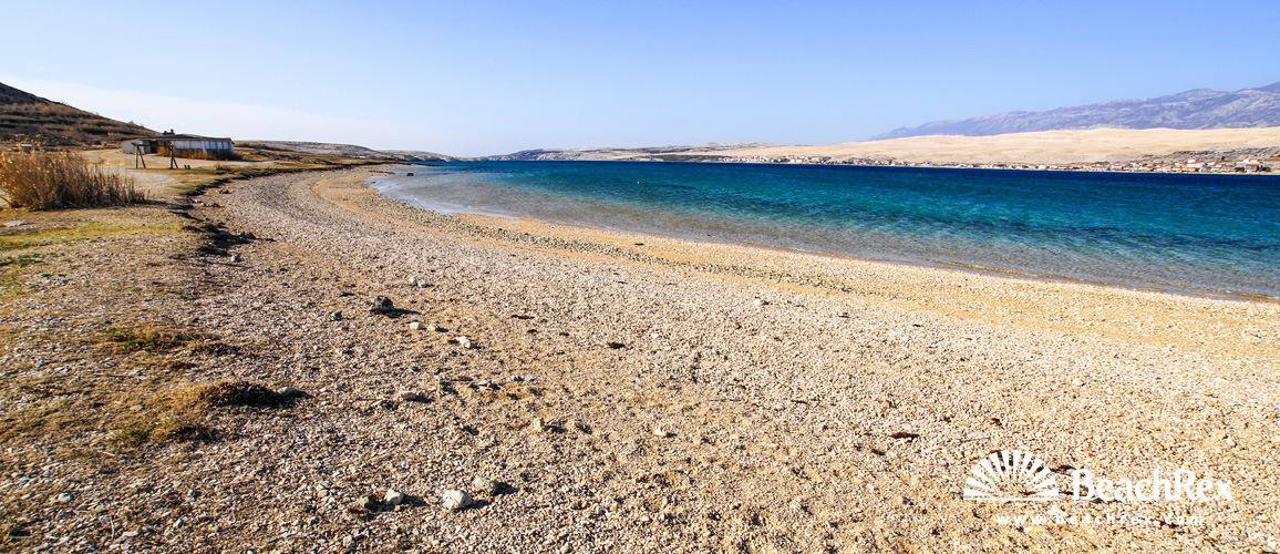 Beach Sveti Duh Kolan Island Pag Dalmatia Zadar