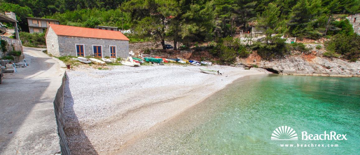 Croatia - Dalmatia  Split - Island Hvar -  Bogomolje - Beach Bristova