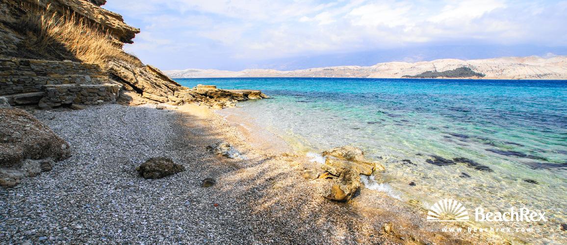 Croatia - Dalmatia  Zadar - Island Pag -  Pag - Beach Sv. Marko
