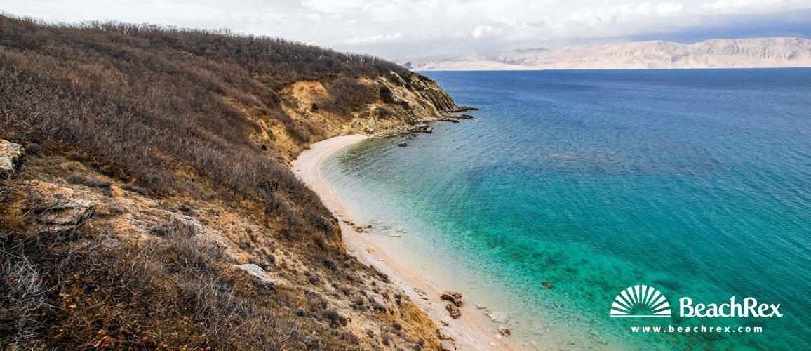 Hrvaška - Dalmacija  Zadar - Otok Pag -  Pag - Plaža Rozin Bok