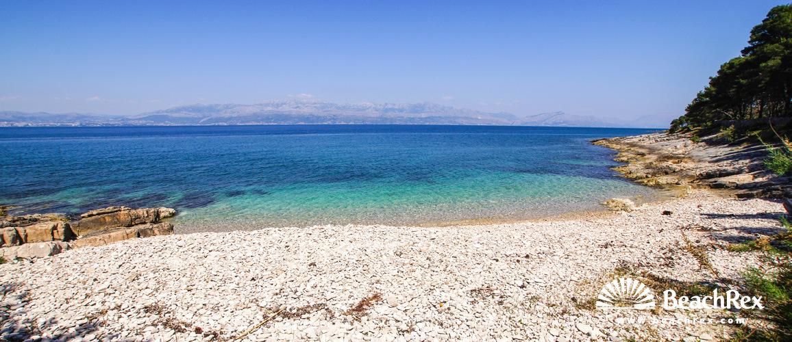 Croatia - Dalmatia  Split - Island Brač -  Sutivan - Beach Erot