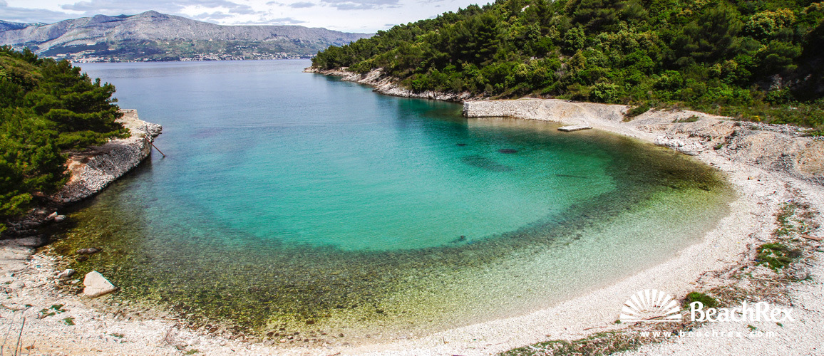 Hrvatska - Dalmacija  Split - Otok Brač -  Postira - Plaža Konopjikova