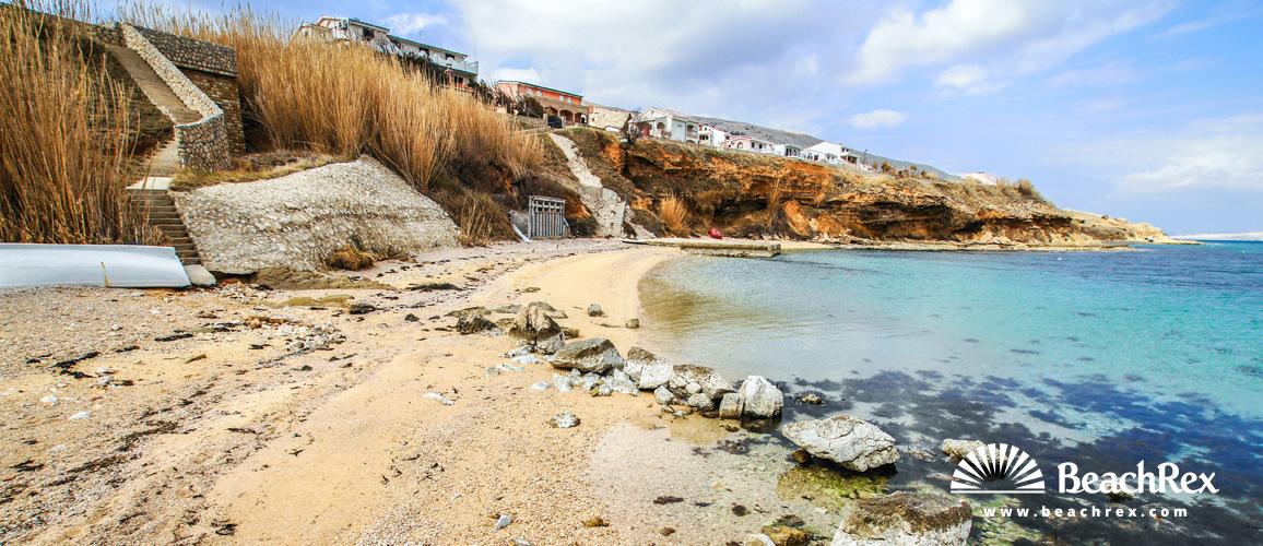 Croatia - Dalmatia  Zadar - Island Pag -  Pag - Beach Tartanovo