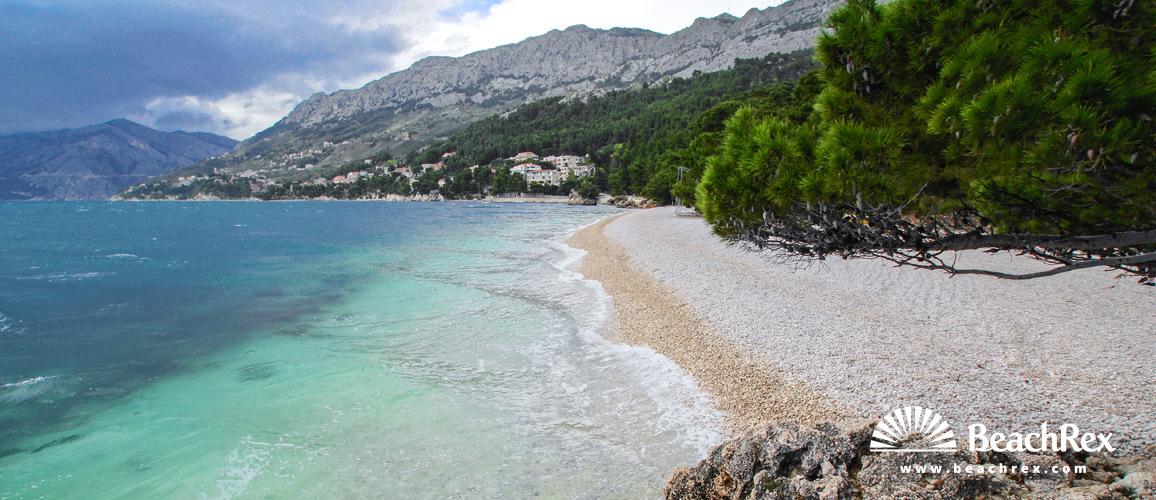 Croatia - Dalmatia  Split -  Brela - Beach Punta Rata