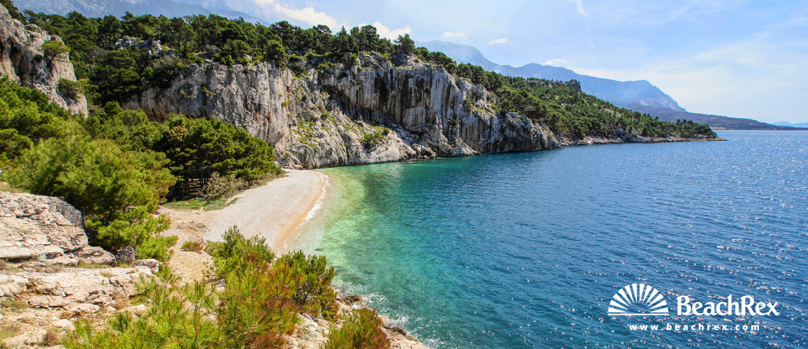 Croatia - Dalmatia  Split -  Makarska - Beach Nugal