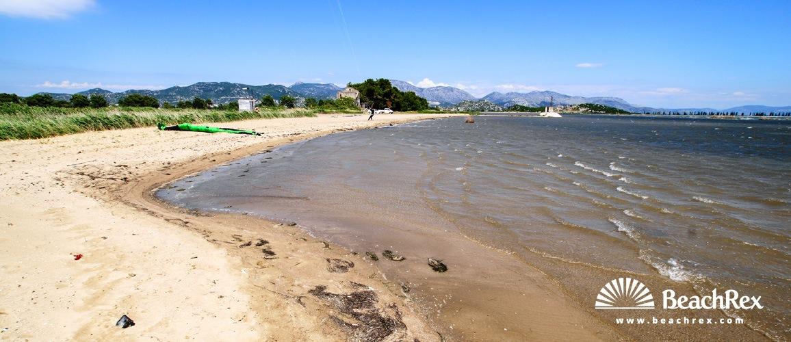 Croatia - Dalmatia  Dubrovnik -  Ploče - Beach Ušće Neretve